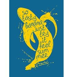 isolated yellow banana fruit silhouette vector image vector image
