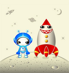kawaii astronaut vector image vector image