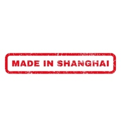 Made in shanghai rubber stamp vector