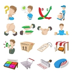 Marketing icons set vector image vector image