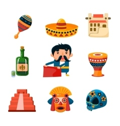 National Mexical Objects vector image vector image