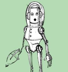 Retro robot vector