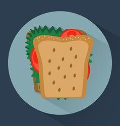 Sandwich colorful round icon vector