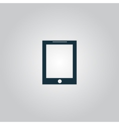 smart tablet icon vector image vector image