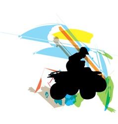 Sportsman riding quad bike vector image vector image