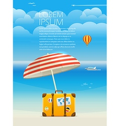 Summer seaside vacation template for a text vector