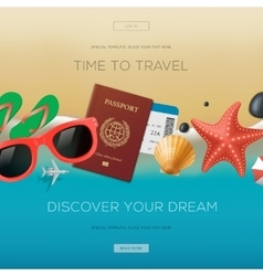 Summertime vacation background time to travel vector