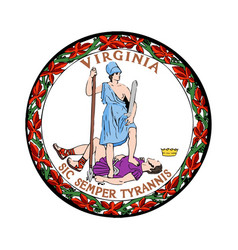Virginia seal vector