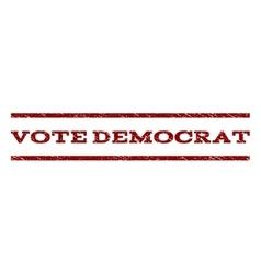 Vote democrat watermark stamp vector