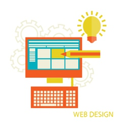 Website design development vector