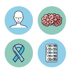 healthcare related icons image vector image