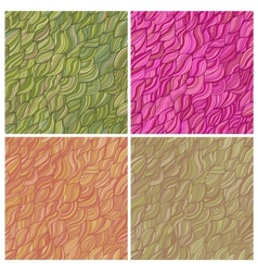 Set of artistic seamless patterns vector