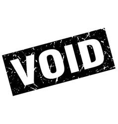 Square grunge black void stamp vector