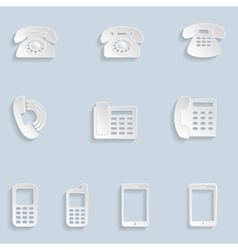 Paper Phone Icons vector image