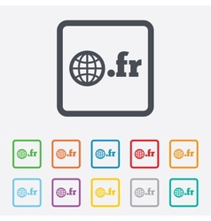 Domain fr sign icon top-level internet domain vector