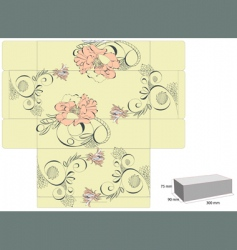 Vintage template for box design vector
