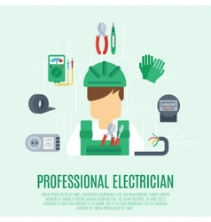 Professional electrician concept vector