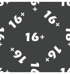 Age restriction 16 pattern vector