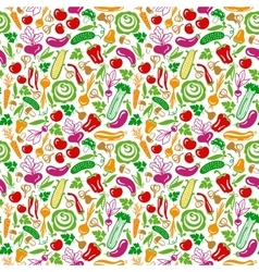 Seamless pattern vegetables vector