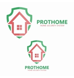 House on the shield logo vector