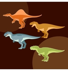 Set of carnivores dinosaurs vector