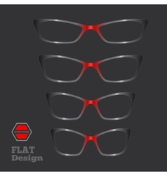 Eye glasses set optical glass appliance for vector