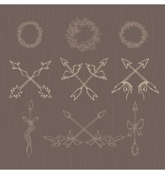 Hand drawn  vintage decorative lovely vector