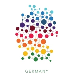 Dotted texture germany background vector