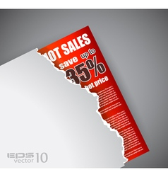 Evoloped sales promotional poster vector
