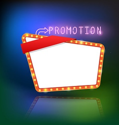 Abstract retro light promotion banner vector