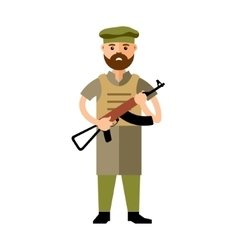 Afghanistan army flat style colorful vector