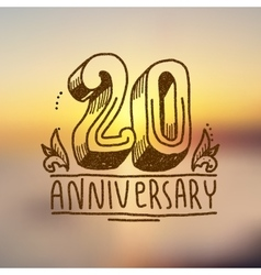 Anniversary sign 20 vector
