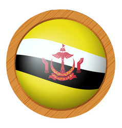 Badge design for flag of brunei vector