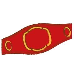 Boxing belt icon vector