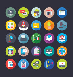 Business and office icons 6 vector