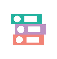 Closed office binder folder file object on white vector