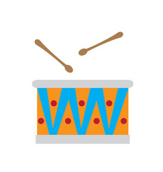 colored drum toy icon vector image