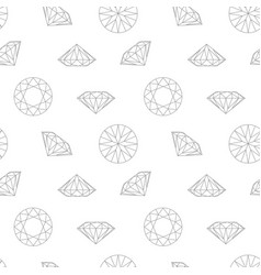 Diamond concept seamless pattern wrapping paper vector