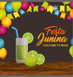 festa junina design vector image