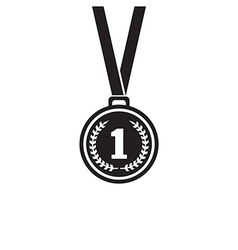 First place medal monochrome icon vector