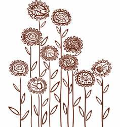 floral background sketch vector image