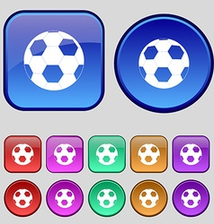 Football icon sign A set of twelve vintage buttons vector image vector image