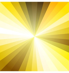 Gold light ray abstract background vector
