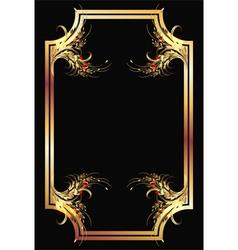 golden ornament poster vector image