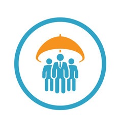 group life insurance icon flat design vector image vector image