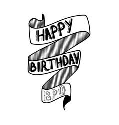 Happy birthday bro vector