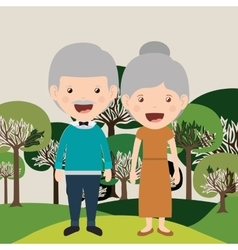 Happy grandparents design vector