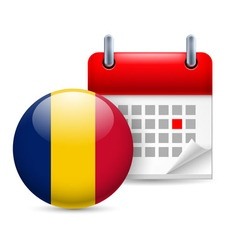 Icon of national day in chad vector