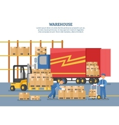 Logistics delivery poster vector