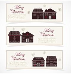 Merry christmas banner vector